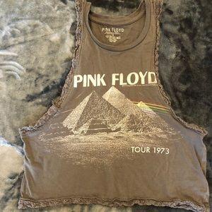Pink Floyd crop tank top